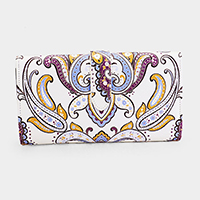 Paisley Fashion and Style Fatty Wallet