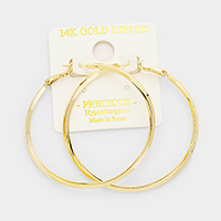 14k Gold Dipped Hypoallergenic Hoop Earrings