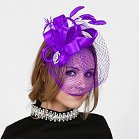 Loopy Satin Bow Feather Fascinator
