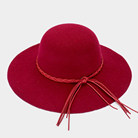 Cotton Blend Solid Felt Floppy Hat