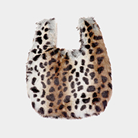 Fluffy Faux Fur Slouchy Tote Bag
