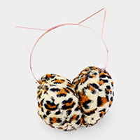 Cat Ear Leopard Faux Fur Earmuff