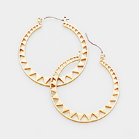 Tiny Triangle Hoop Pin Catch Earrings