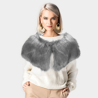 Faux Fur Cape Scarf