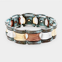 Textured Metal Stretchable Bracelet