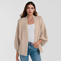 Bell Sleeve Fuzzy Sparkly Cardigan