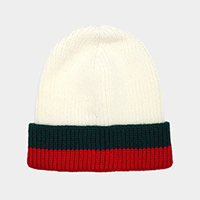 Color Block Beanie Hat