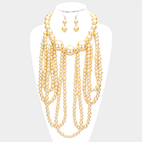 Draped Pearl Statement Necklace
