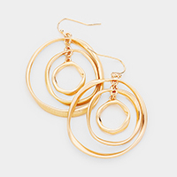 Abstract Multi Hoop Dangle Earrings