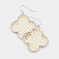 Quatrefoil Clover Filigree Dangle Earrings