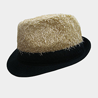 Belt Accented Hairy Fedora