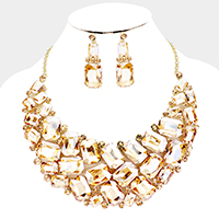 Statement Crystal Necklace Set