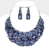 Statement Crystal Bib Necklace Set