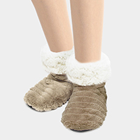 Solid Indoor Bootie Slippers