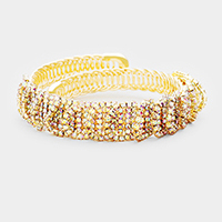 Crystal Pave Draped Detailed Adjustable Bracelet
