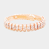 Crystal Rhinestone Pave Bubble Adjustable Bracelet