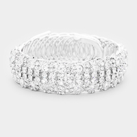 4Row Crystal Round Bubble Adjustable Bracelet