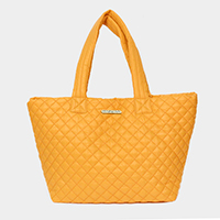 Quilted Large Tote Bag