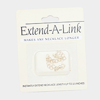 Instantly Extend Necklace Length up to  3.5 Inches