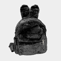 Bunny Ear Fluffy Faux Fur Mini Backpack