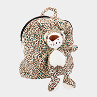 Fluffy Stuffed Animal Patterned Backpack