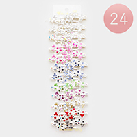 24PCS - Crystal Floral Hair Bobbie Pins