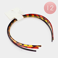 12 Set of 3 - Celluloid Acetate Simple Headbands
