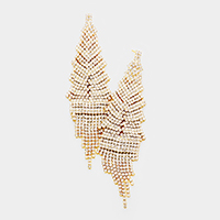 Rhinestone Pave Marquise  Evening Earring