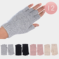 12PCS - Single Layer Fingerless Gloves