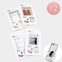 12PCS - Bow Cat Cell Phone Ring Holder
