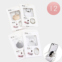 12PCS - Shell Cell Phone Ring Holder