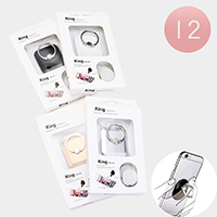 12PCS -  Rectangle Cell Phone Ring Holder