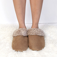 Fluffy Lining Faux Suede Slippers