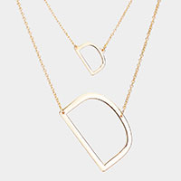 2Row Strand Double 'D' Monogram Detachable Chain Necklace