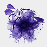 Floral Beads Feather Net Fascinator