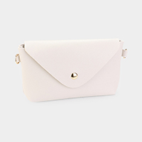 Faux Leather Rectangle Envelope Mini Crossbody Bag
