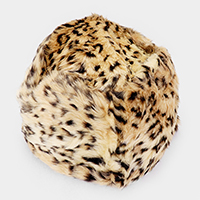 Leopard Furry Faux Fur Russian Hat