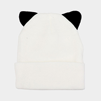 Cat Ear Knit Beanie Hat