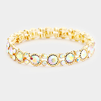 Bubbly Crystal Round Evening Bracelet