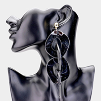 Abstract Celluloid Acetate Link Dangle Earrings