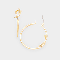 14k Gold Filled Curved Metal Hoop Earrings