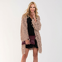 Chunky Chenille Loose Tie Cardigan