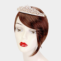 Crystal Round Rhinestone Pave Pageant Queen Tiara