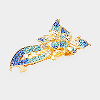 Crystal Rhinestone Pave Butterfly Barrette