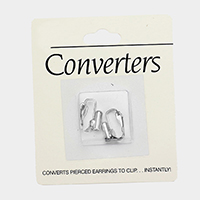 2PCS - Converts Pierced Earrings to Clip