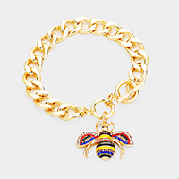 Honey Bee Charm Toggle Bracelet