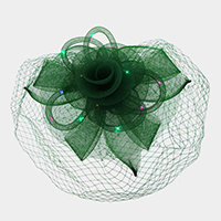 Feather Mesh Floral Net lighting Fascinator