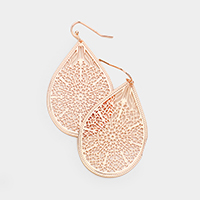 Floral Droplet Filigree Earrings