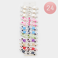 24PCS - Crystal Floral Vine Hair Bobbie Pins