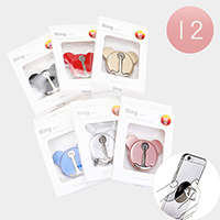12PCS - Cute Ears Kickstand Stent Cell Phone Ring Holder